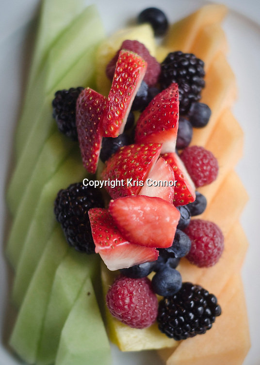 Meledy of Seasonal Fruits and Berries served at Adour  at The St. Regis in Washington DC. Photo by Kris Connor