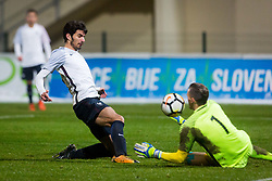 Martin Terrier of France during football match between Slovenia and France in Qualifying round for European Under-21 Championship 2019, on November 13, 2017 in Sportni park, Domzale, Slovenia.  Photo by Ziga Zupan / Sportida