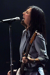 Charlene Spiteri of Texas performs on stage at the SECC in Glasgow on Feb 22, 2001..©2010 Michael Schofield. All Rights Reserved.