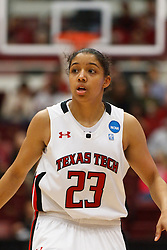 March 19, 2011; Stanford, CA, USA; Texas Tech Lady Raiders guard Monique Smalls (23) before a free throw against the St. John's Red Storm during the second half of the first round of the 2011 NCAA women's basketball tournament at Maples Pavilion. St. John's defeated Texas Tech 55-50.