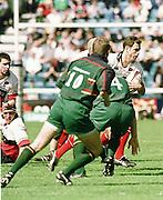 London Irish vs Saracens, Kryan Bracken, running witht he ball during the match at the Stoop, Twickenham,.. [Mandatory Credit: Peter Spurrier; Intersport Images].