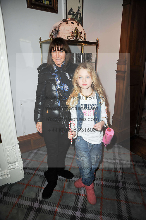 MEG MATTHEWS and her daughter ANAIS at the Juicy Couture children's tea party in aid of Mothers 4 Children held at the Juicy Couture Store, Bruton Street, London on2nd December 2009.