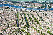 Nederland, Noord-Holland, Amsterdam, 01-08-2016; westelijk deel van de grachtengordel met Westermarkt en Westertoren, Raadhuisstraat. Westerdok, Amsterdam-Noord met Overhoeks.<br /> Western part of the belt of canals.<br /> luchtfoto (toeslag op standard tarieven);<br /> aerial photo (additional fee required);<br /> copyright foto/photo Siebe Swart