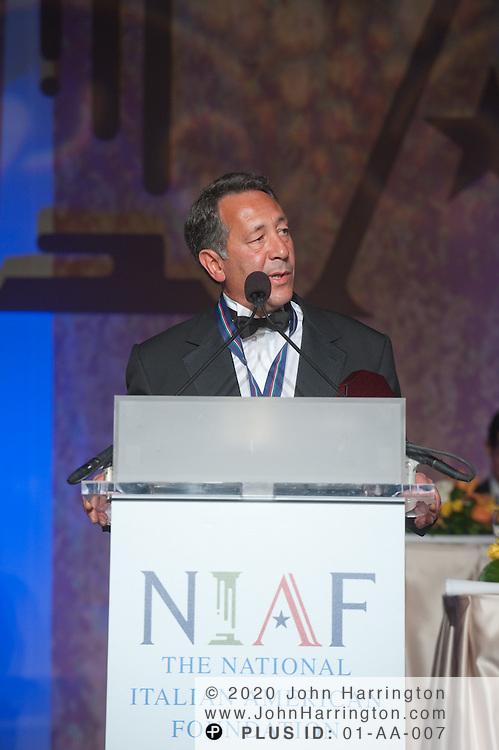 Joe Uva recieves the One America award at the 2010 National Italian American Foundation awards gala.