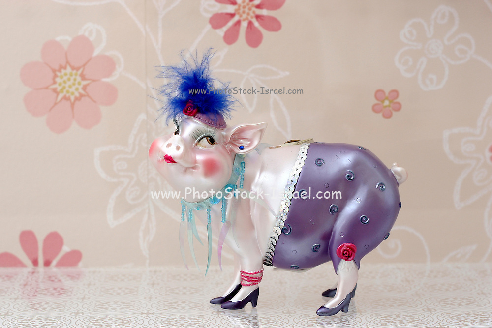 Figure of a dressed up pig