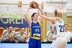 Gabriela Marginean of Romania during basketball match between National teams of Slovenia and Romania in 4. round of FIBA Women's EuroBasket 2019 Qualifiers, on February 14, 2018 in Dvorana Gimnazija Celje - Center, Slovenia. Photo by Urban Urbanc / Sportida
