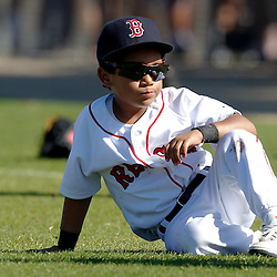 February 19, 2011; Fort Myers, FL, USA; D'Angelo Ortiz son of first baseman David Ortiz (not pictured) during spring training at the Player Development Complex.  Mandatory Credit: Derick E. Hingle