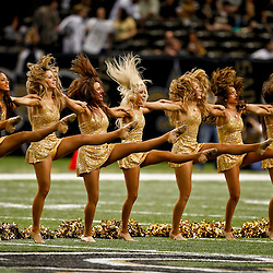 December 16, 2012; New Orleans, LA, USA; New Orleans Saints Saintsations perform during a game against the Tampa Bay Buccaneers at the Mercedes-Benz Superdome. The Saints defeated the Buccaneers 41-0. Mandatory Credit: Derick E. Hingle-USA TODAY Sports