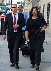 © Licensed to London News Pictures. 10/06/2015. London, UK. SUSAN ALEXANDER (right) , mother of Azelle Rodney arriving at the old bailey in London where former Met specialist firearms officer Anthony Long is due to stand trial accused of murdering Azelle Rodney in April 2005. Rodney died after officers stopped the car he was travelling in with two other men in Edgware, north London. Photo credit: Ben Cawthra/LNP