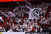 2019-04-27 | Stockholm, Sweden: Täby supporters during the game between KAIS Mora IF and Täby FC IBK at Ericsson Globe Arena ( Photo by: Simon Holmgren | Swe Press Photo )<br /> <br /> Keywords: Ericsson Globe Arena, Stockholm, Floorball, SM-Final, KAIS Mora IF, Täby FC IBK