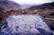 A model shows the strategic importance of the geography of the Khyber Pass looking from Pakistan into Afghanistan to the west. 2001