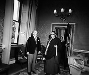 President Childers receives the Dalai Lama at Aras an Uachtarain<br />