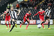 Jon Stead of Notts County scores a penalty during the Sky Bet League 2 match at Meadow Lane, Nottingham<br /> Picture by James Wilson/Focus Images Ltd 07522 978714‬‬<br /> 25/08/2017