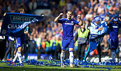 LONDON, ENGLAND - Sunday, May 3, 2015: Chelsea's Branislav Ivanovic celebrates winning the Premier League title after a 1-0 victory over Crystal Palace at Stamford Bridge. (Pic by David Rawcliffe/Propaganda)