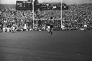 All Ireland Senior Football Championship Final, Kerry v Down, 22.09.1968, 09.22.1968, 22nd September 1968, Down 2-12 Kerry 1-13, Referee M Loftus (Mayo)...Down's second goal - Down foward J Purdy (no 15) jubilant after scoring Down's second goal with Kerry backs on left and right and goalie J Colloty looking very disapointed,.