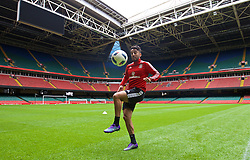 CARDIFF, WALES - Saturday, March 26, 2016: Wales' Neil Taylor during a training session at the Millennium Stadium ahead of the International Friendly match against Ukraine. (Pic by David Rawcliffe/Propaganda)
