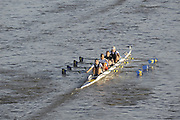 London, Great Britain, Tees RC, pass under Chiswick Bridge, at the start of the 2009Veterans Fours of the River Race, raced over the Championship Course, Mortlake to Putney, on the River Thames.   Sunday, 15/11/2008. [Mandatory Credit: Peter Spurrier/Intersport Images]