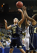 24 MARCH 2009: Georgia Tech forward Brigitte Ardossi (35) tries to grab a rebound during an NCAA Women's Tournament basketball game Tuesday, March 24, 2009, at Carver-Hawkeye Arena in Iowa City, Iowa. Oklahoma defeated Georgia Tech 69-50.