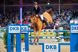 KAUERT Christof (GER), San Chano<br /> Neustadt-Dosse - CSI 2019<br /> Stechen<br /> Championat von Neustadt-Dosse<br /> Preis der Deutschen Kreditbank AG<br /> 12. Januar 2019<br /> © www.sportfotos-lafrentz.de/Stefan Lafrentz
