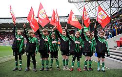 Flag Bearers -Mandatory by-line: Nizaam Jones/JMP- 12/01/2019 - FOOTBALL -Ashton Gate Stadium- Bristol,England- Bristol City v Bolton Wanderers - Sky Bet Championship