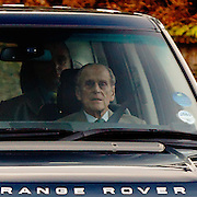 2011122701-Prince Philip arrives at Sandringham after heart operation