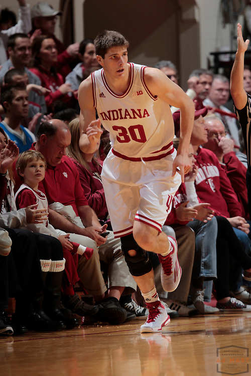Indiana forward Collin Hartman (30) as Grand Canyon played Indiana in an NCAA college basketball game in Bloomington, Ind., Saturday, Dec. 13, 2014. (AJ Mast/Photo)