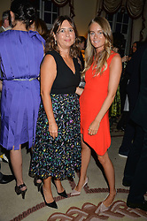 Left to right, ALEXANDRA SHULMAN and CRESSIDA BONAS at a party to kick off London Fashion Week hosted by US Ambassador Matthew Barzun and Mrs Brooke Brown Barzun with Alexandra Shulman in association with J.Crew hrld at Winfield House, Regent's Park, London on 18th September 2015.