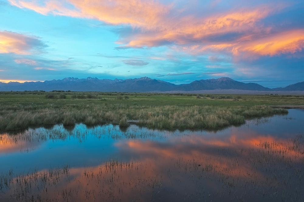 Medano Ranch marsh sunset