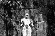 Buduruvagala rock carvings.