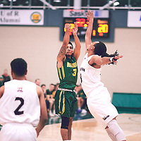 3rd year guard, Kameron Vales (3) of the Regina Cougars during the Men's Basketball Home Game on Sat Dec 01 at Centre for Kinesiology,Health and Sport. Credit: Arthur Ward/Arthur Images
