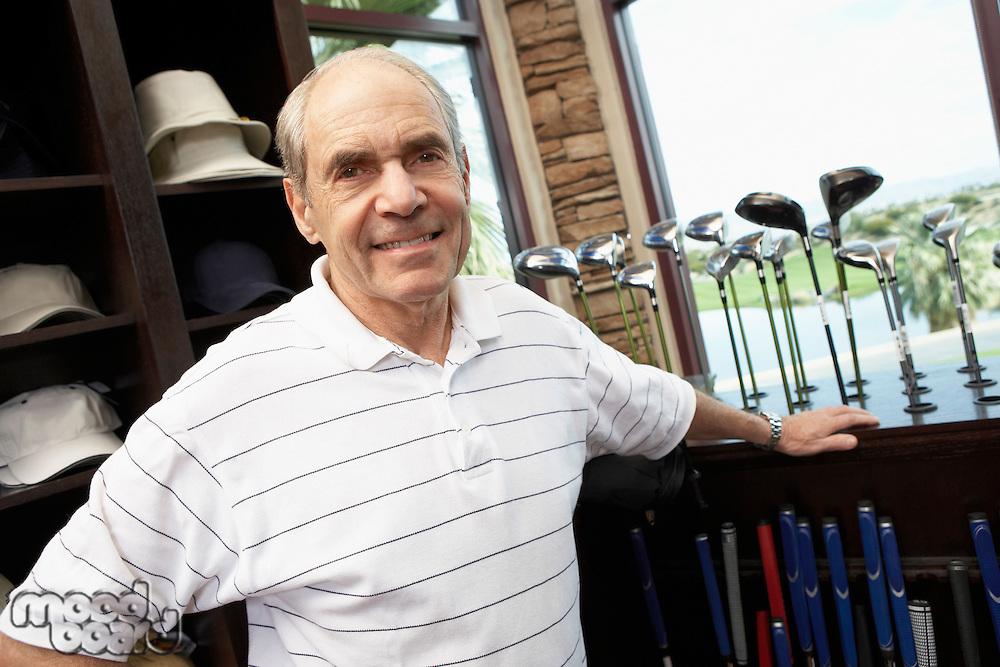 Man in a Golf Shop