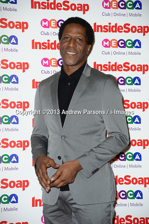 Inside Soap Awards.<br /> Cornell S John arrives for the Inside Soap Awards, Ministry of Sound, London, United Kingdom,<br /> Monday, 21st October 2013. Picture by Andrew Parsons / i-Images