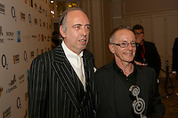 (l-r) MIck Jones and Nick Headon of The Clash. The Silver Clef Lunch 2013 in aid of  Nordoff Robbins held at the London Hilton, Park Lane, London.<br /> Friday, June 28, 2013 (Photo/John Marshall JME)