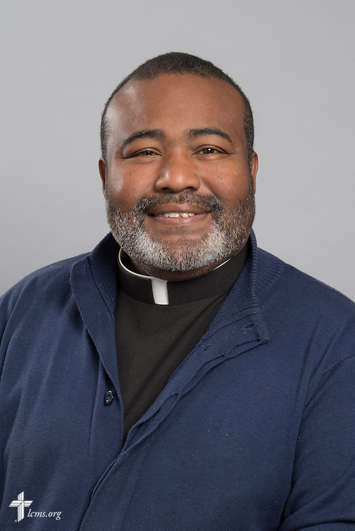 Headshot photograph of the Rev. Juan A. Gonzalez on Friday, May 29, 2015, at the International Center of The Lutheran Church–Missouri Synod in Kirkwood, Mo. LCMS Communications/Frank Kohn
