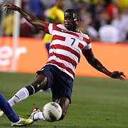 Maurice Edu, USA, in action during the USA V Brazil International friendly soccer match at FedEx Field, Washington DC, USA. 30th May 2012. Photo Tim Clayton