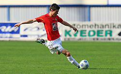 Alem Mujakovic of Rudar  at 26th Round of Slovenian First League football match between NK Domzale and NK Rudar Velenje in Sports park Domzale, on April 4, 2009, in Domzale, Slovenia. (Photo by Vid Ponikvar / Sportida)