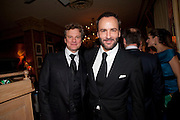 COLIN FORTH; TOM FORD, Graydon Carter hosts a diner for Tom Ford to celebrate the London premiere of ' A Single Man' Harry's Bar. South Audley St. London. 1 February 2010