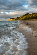 Shadows are cast on the bluff above Esch Beach<br />