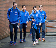 The Brighton and Hove Albion team arrive at the stadium before the Sky Bet Championship match at Turf Moor, Burnley<br /> Picture by Russell Hart/Focus Images Ltd 07791 688 420<br /> 22/11/2015