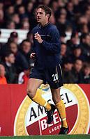 Arsenal defender Matthew Upson makes his return to the squad after injury. Arsenal 4:2 Sparta Prague, UEFA Champions League, Group B, 25/10/2000. Credit Colorsport / Stuart MacFarlane.