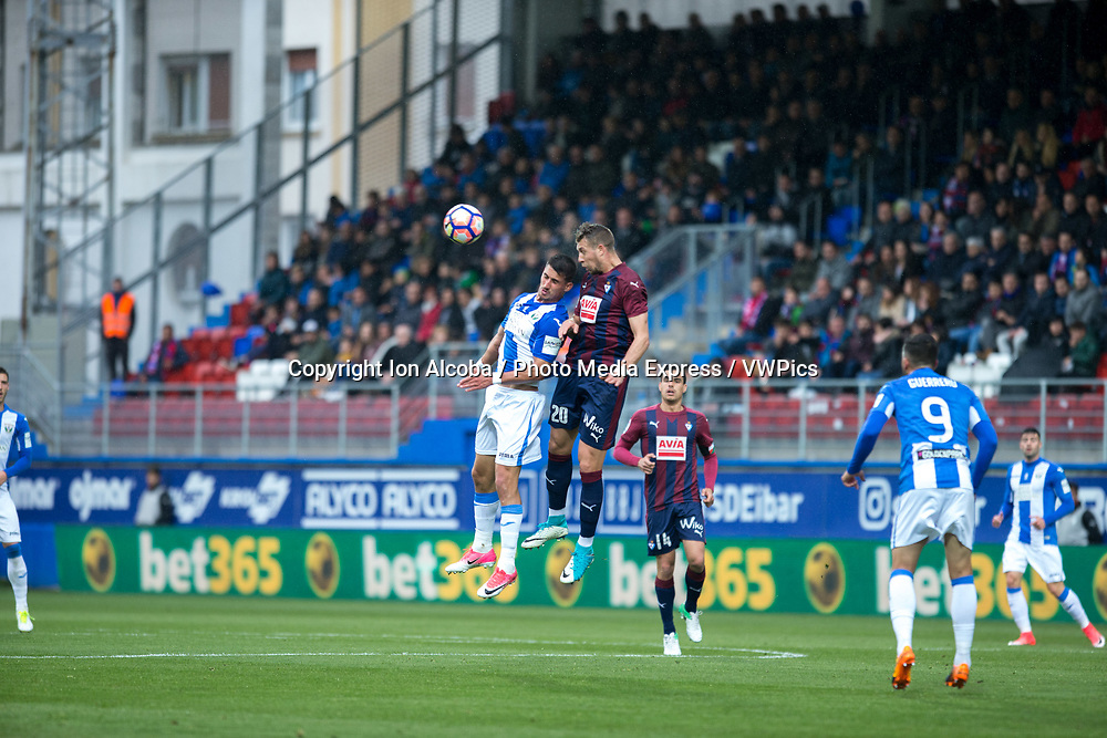 Match day of La Liga Santander 2016 - 2017 season between S.D Eibar - C.D Leganes, played Ipurua Stadium on Sunday, April 30th, 2017. Eibar, Spain. 20 Lejeune. Photo: ION ALCOBA | PHOTO MEDIA EXPRESS