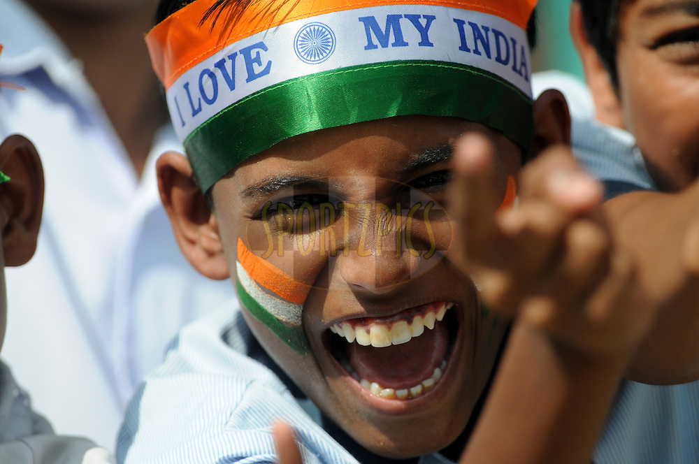 An Indian supporter during day 2 of the third test between India and New Zealand held at the Vidarbha Cricket Stadium in Nagpur on the 21st November 2010..Photo by Pal Pillai/BCCI/SPORTZPICS