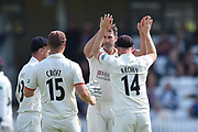 Wicket - Graham Onions of Lancashire celebrates taking the wicket of Azhar Ali of Somerset during the Specsavers County Champ Div 1 match between Somerset County Cricket Club and Lancashire County Cricket Club at the Cooper Associates County Ground, Taunton, United Kingdom on 5 September 2018.