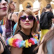 Bologna, Italy, July 1, 2017. Gay Pride.<br /><br />Bologna, Italia, 1 Luglio 2017. Gay Pride.