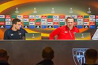BILBAO - 09-12-15, Athletic Bilbao - AZ, Europa League, persconferentie, training, San Mames Stadion, AZ speler Vincent Janssen, AZ trainer John van den Brom