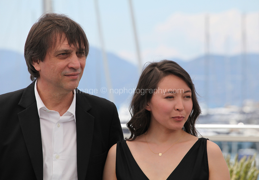 Director Sergei Dvortsevoy and  Actress Samal Yeslyamova at the Ayka (The Little One) film photo call at the 71st Cannes Film Festival, Friday 18th May 2018, Cannes, France. Photo credit: Doreen Kennedy