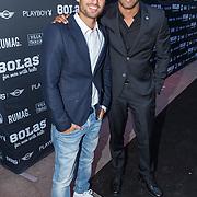 NLD/Rotterdam/20150907 - Lancering Bolas Underwear, Everon Jackson Hooi en partner Jozua Augusto Suitela