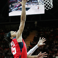 05 August 2012: USA Candace Parker goes for the layup over China Lije Miao during 114-66 Team USA victory over Team China, during the women's basketball preliminary, at the Basketball Arena, in London, Great Britain.