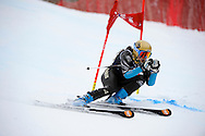 06 MAR 2013: Brooke Wales of the University of Colorado competes in the Women's Giant Slalom during the 2013 NCAA Men and Women's Division I Skiing Championship held at Middlebury Snowbowl in Middlebury, VT. Wales placed second in the event. Brett Wilhelm