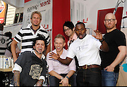 Season 2 cast (L-R) Matthew, Paulo, Daniel, Parker, Oshun and Charlie pose at the Bravo 'Shear Genius' Times Square Salon on the Military Island in Times Square in New York City, USA on June 24, 2008.
